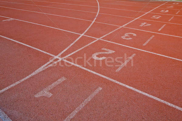 Athletic running track with number one,two,three, four,five and  Stock photo © art9858