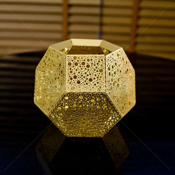 ancient gold ornament can put something in box Stock photo © art9858