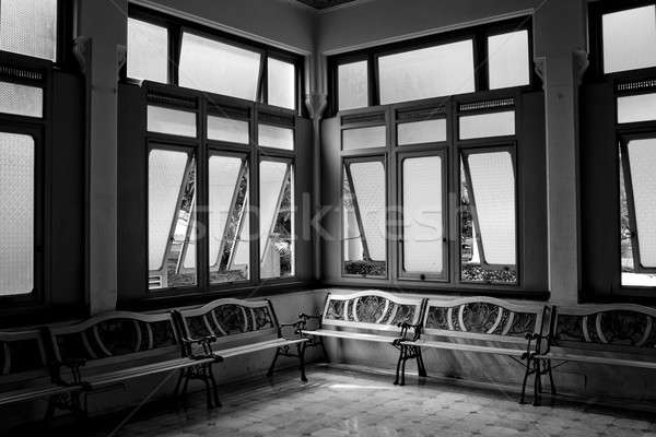 Interior of a hospitall waiting room with a view on windows. Day Stock photo © art9858