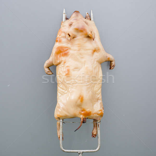 raw huge pig ready to grilled - barbecued suckling-pig Stock photo © art9858