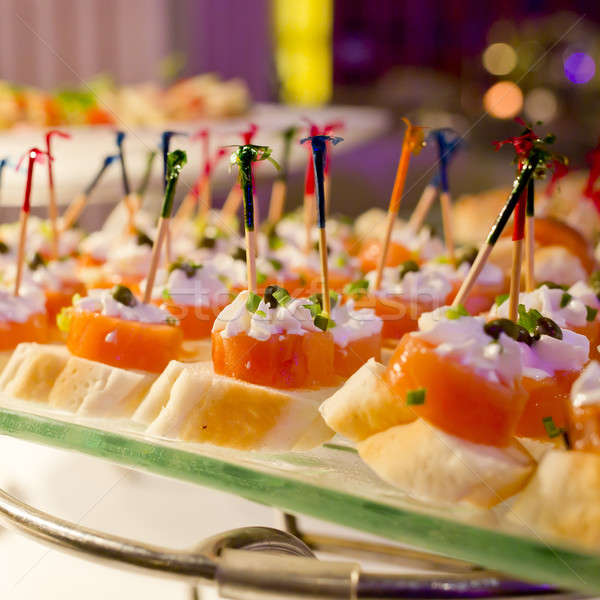 Cocktail food at the wedding ,Nice food cocktail on table in wed Stock photo © art9858