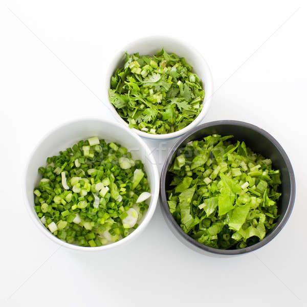 Chopped Celery, Spring onion,  parsley ingredientThai style brea Stock photo © art9858