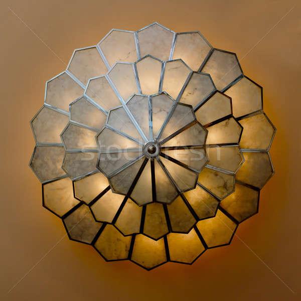 Nagy csillár utazás épületek lámpa építészet Stock fotó © art9858