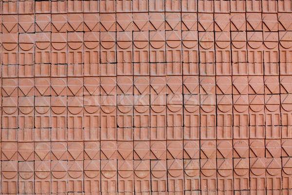 Stok fotoğraf: Eski · grunge · tuğla · duvar · doku · şehir · soyut