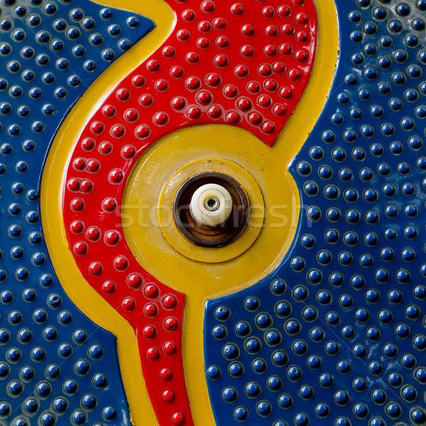 Sötét kék narancs piros színek végtelenített Stock fotó © art9858