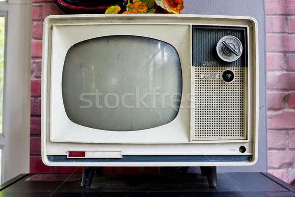 Vintage televisie technologie achtergrond scherm video Stockfoto © art9858