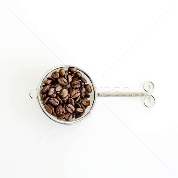 coffee bean and filter on white background Stock photo © art9858