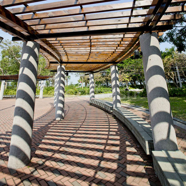 Covered walkway in the park on a Sunny Day Stock photo © art9858