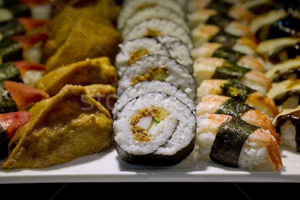 Japonais cuisine buffet restauration style sushis Photo stock © art9858
