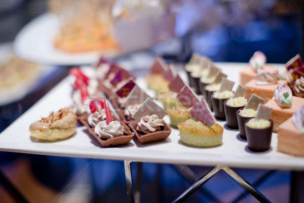 Dessert Canapes Stock photo © art9858