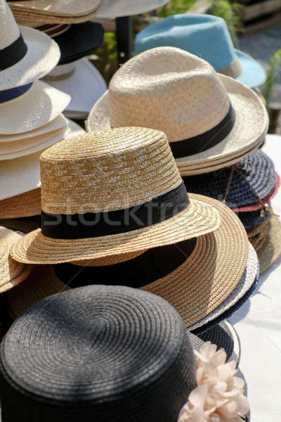 stacked different kinds of hats and head covers Stock photo © art9858