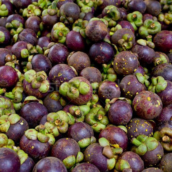 Мангостин популярный фрукты Таиланд текстуры фоны Сток-фото © art9858