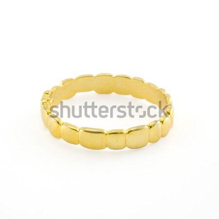 Antik arany karkötő fehér nők divat Stock fotó © art9858
