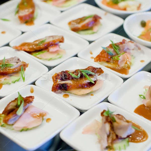 Voorgerechten vinger voedsel gezondheid restaurant ontbijt Stockfoto © art9858