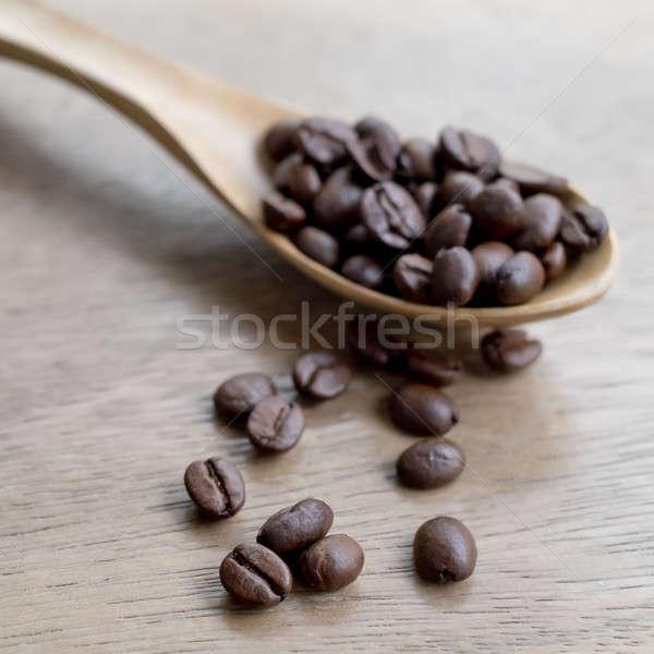 Grão de café escavar café abstrato fundo Foto stock © art9858