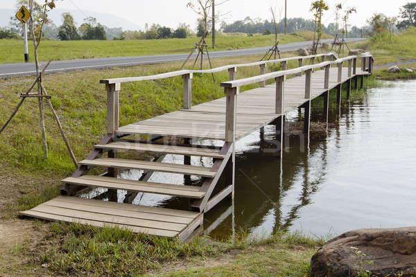 wood bridge cross the canal. Stock photo © art9858