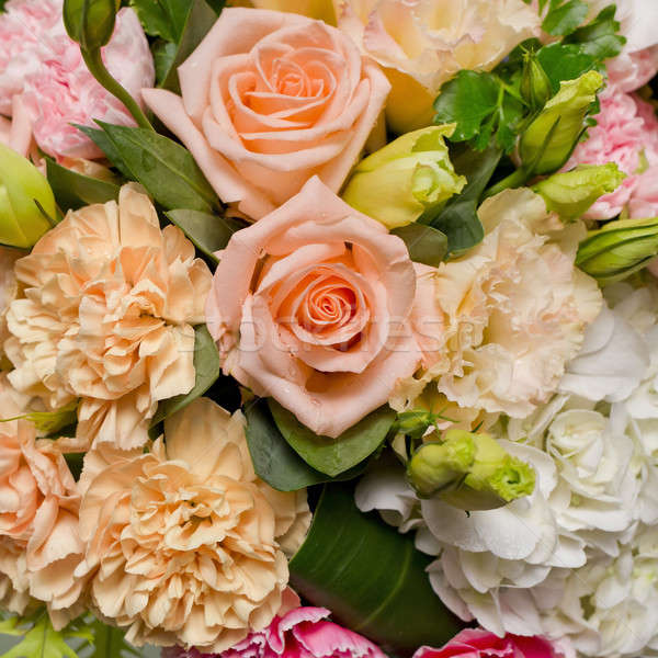 flower bouquet background- orange, pink, white flowers bouquet. Stock photo © art9858