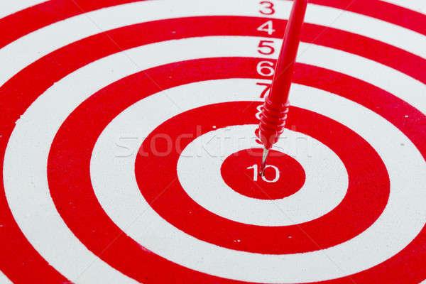 Uno dardos centro objetivo aislado blanco Foto stock © art9858