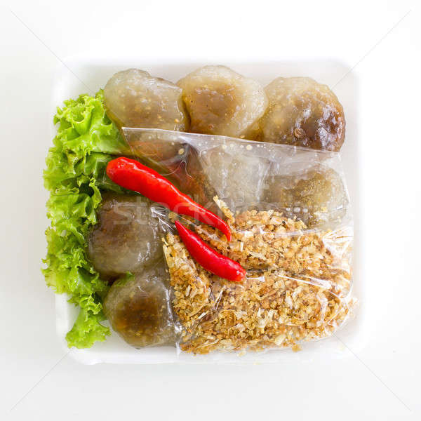 Steamed tapioca balls with peanut and pork filling Stock photo © art9858