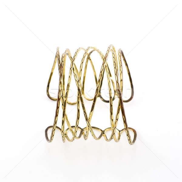 antique gold bracelet on white background Stock photo © art9858