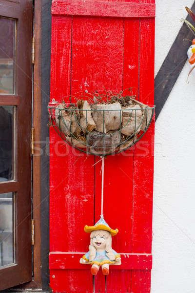 Rood paal hout bomen leuk vers Stockfoto © art9858