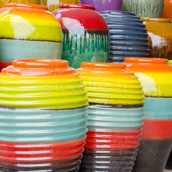 Colored jars Vintage Stock photo © art9858