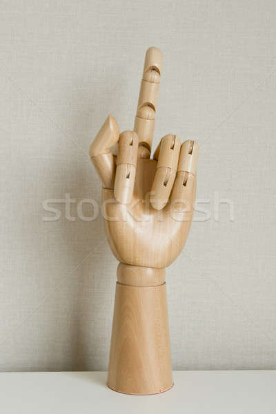 Hand Gesturing With Middle Finger On White Background Stock photo © art9858