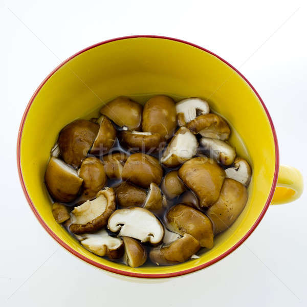 Slice dried Chinese mushroom then leave in water Stock photo © art9858