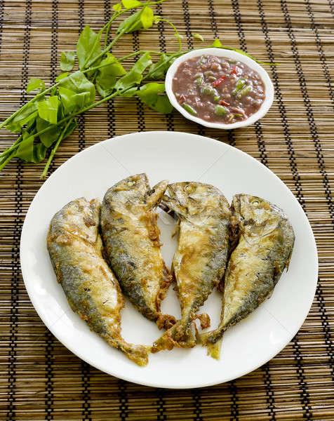 Garnalen chili saus pi indian Stockfoto © art9858