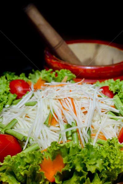 Híres thai étel saláta mi étel asztal Stock fotó © art9858