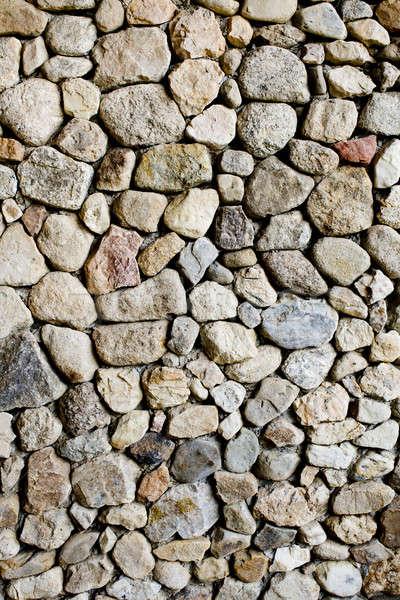 石の壁 テクスチャ 抽象的な 背景 石 レトロな ストックフォト © art9858