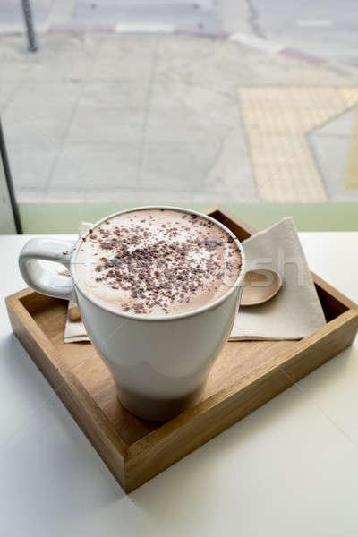 капучино Кубок кофе продовольствие дизайна шоколадом Сток-фото © art9858