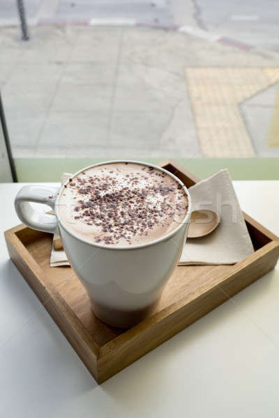 Cappuccino tasse café alimentaire design chocolat Photo stock © art9858
