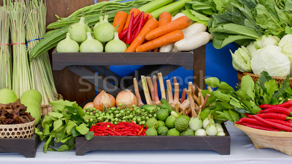 Kind of Thai vegetables set in Thai kitchen style. Stock photo © art9858