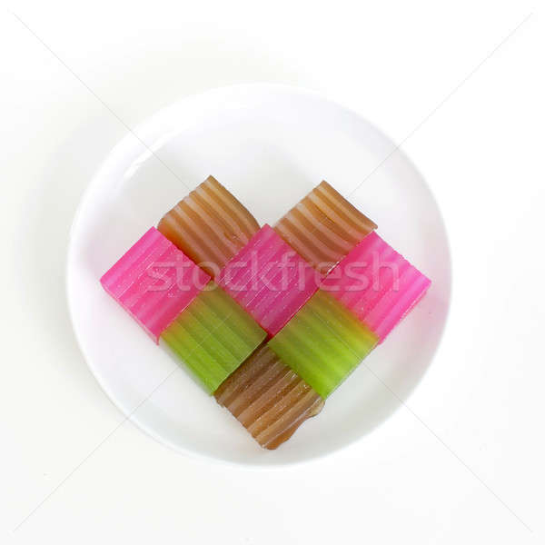 Khanom Chan or Thai sweetmeat is a kind of sweet Thai dessert. H Stock photo © art9858
