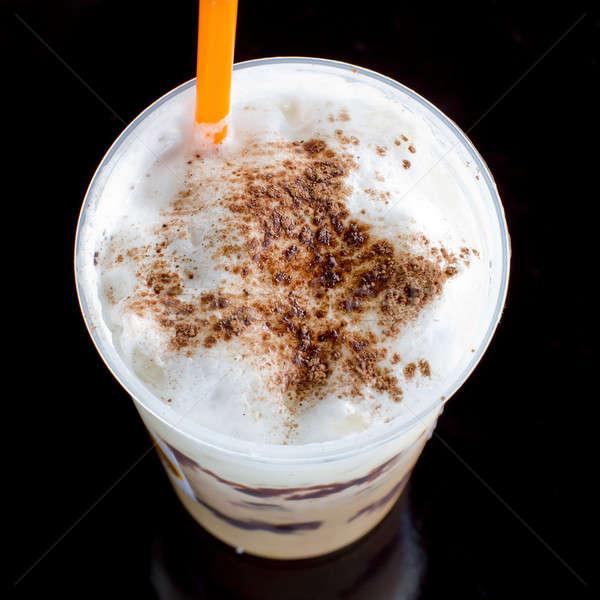 Iced chocolate smoothie Stock photo © art9858
