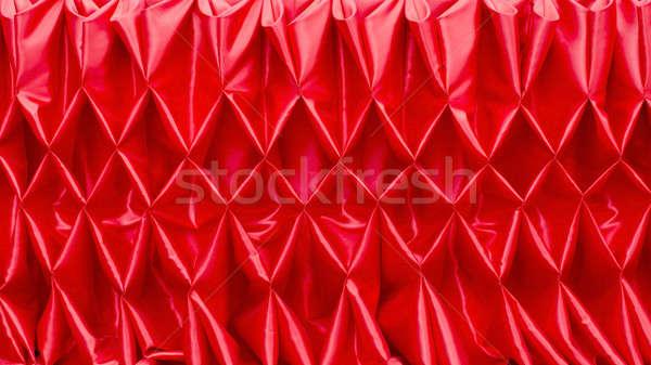 Rosso chiuso sipario texture luce fase Foto d'archivio © art9858