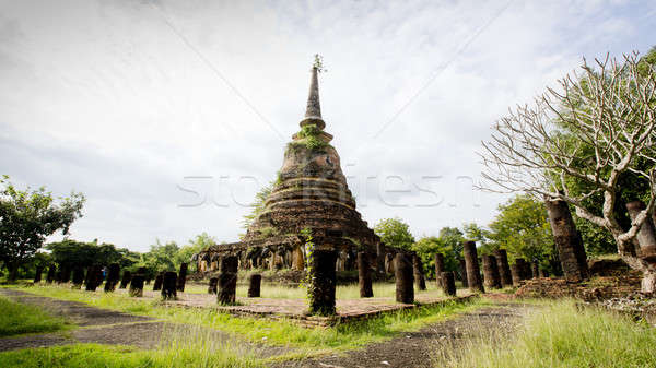 Sukhothai historical park, the old town of Thailand in 800 year  Stock photo © art9858