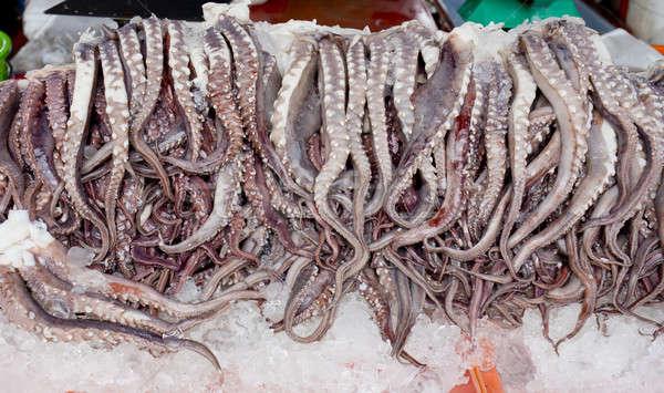 Vers octopus armen ijs markt hemel Stockfoto © art9858