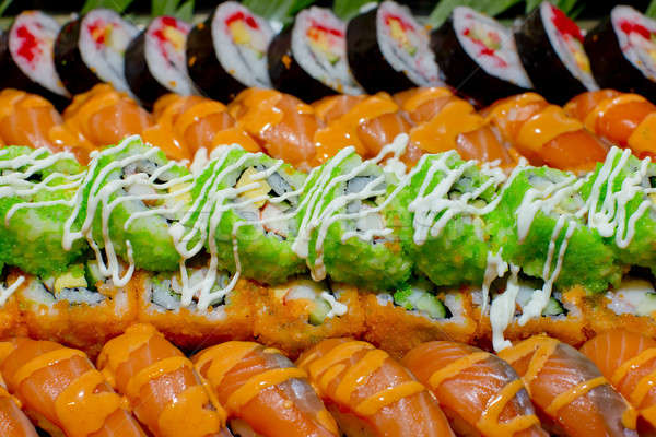 Japanese Cuisine -Buffet catering style Sushi Set in restaurant  Stock photo © art9858