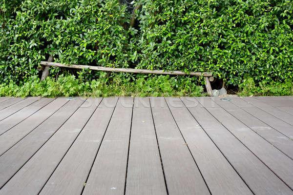 Madeira piso sol tabela verde Foto stock © art9858