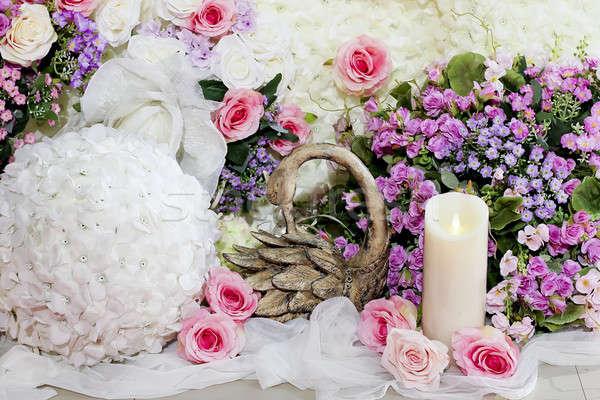 Casamento decorado comida alimentação branco sobremesa Foto stock © art9858