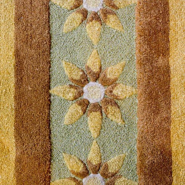 Flores marrón alfombra papel libro pared Foto stock © art9858