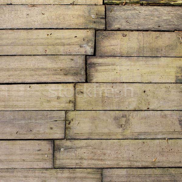 Oud hout bouw achtergrond frame tabel bureau Stockfoto © art9858