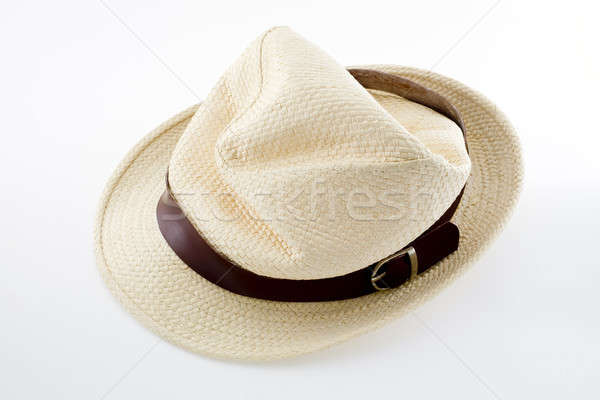 rumpled female felt hat isolated on white background Stock photo © art9858
