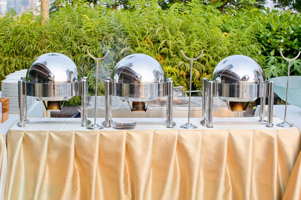 chafing dishes at a party Stock photo © art9858