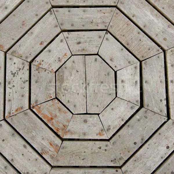 Spinneweb hout textuur web witte patroon Stockfoto © art9858