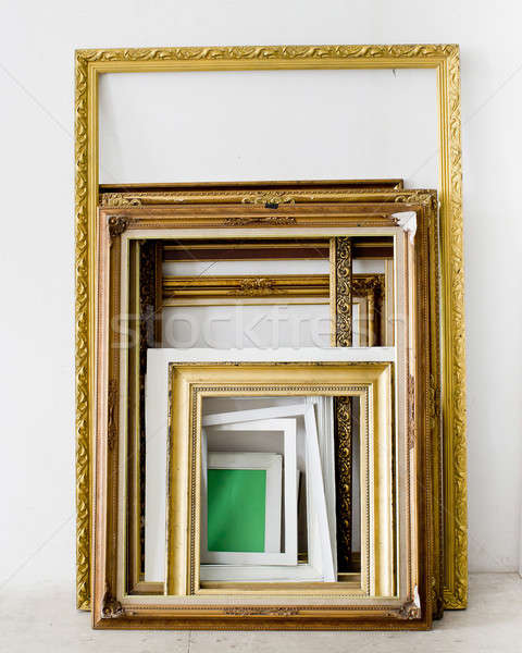 Set of Vintage gold picture frame Stock photo © art9858