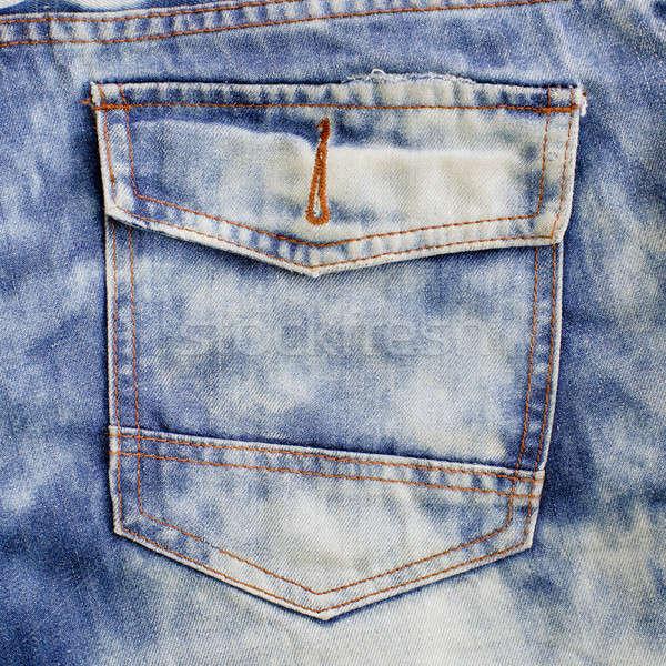 eans pocket. Denim background. Stock photo © art9858