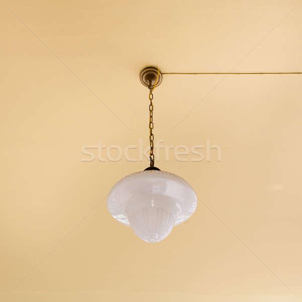 Vintage żyrandol świetle domu noc lampy Zdjęcia stock © art9858